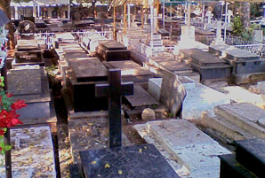 A cemetery in India