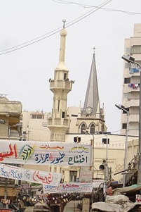 A church and a mosque next to each other - Photo: Wikipedia / TheEgyptian