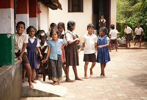 School children in India