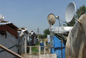 Satellite dishes in Iran