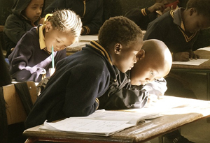 African children in school