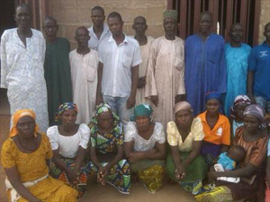 Some of the parents of Chibok's kidnapped girls.
