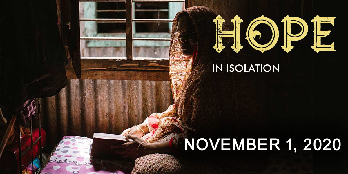 IDOP 2020 - Hope in Isolation - November 1, 2020